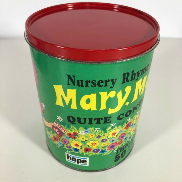 Vintage Children's Nursery Rhyme Jigsaw Puzzle In Tin 'Mary Mary' 50 Pieces